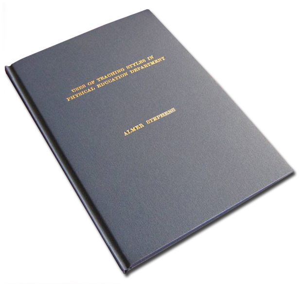 dissertation thesis binding
