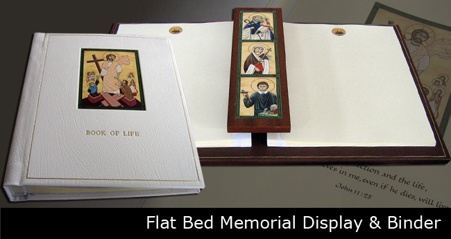 Loose leaf flat bed display slide