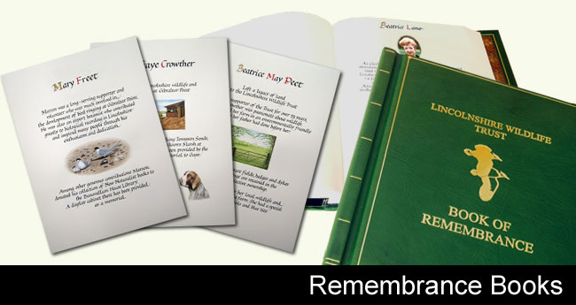 book of remembrance slide